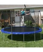 The Skywalker trampoline with enclosure is pretty large and has a lot of jumping room. It comes with a durable, heavy-duty, rust-resistant, galvanized steel frame. Trampoline Safety, Backyard Trampoline, Trampoline Ideas, Trampolines, Outdoor Spaces, Outdoor Living, Outdoor Decor, Outdoor Fun, Outdoor Ideas