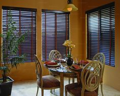 Elegant Blinds for your classy home. Order Wood Blinds and Faux Wood Blinds at 3StepBlinds.com. #windowblinds #windowtreatments #homedecor