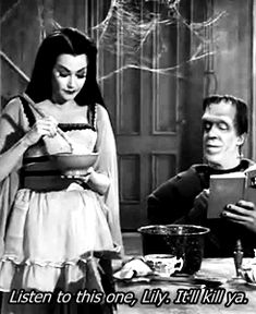 1k my gifs vintage old hollywood the munsters lily munster Yvonne De Carlo munstersedit