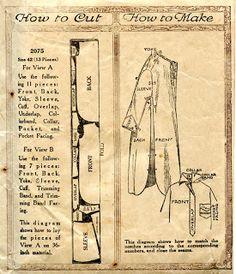 Unsung Sewing Patterns: McCall 2075 - Men's Night-Shirt