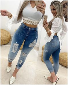 Outfits For Teens, Trendy Outfits, Summer Outfits, Cute Outfits, Fashion Outfits, Womens Fashion, Sexy Jeans, Skinny Jeans, Tights Outfit