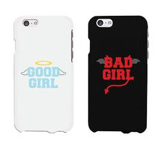 Good Girl & Bad Girl Matching iphone 4 5 5C 6 6+ / Galaxy S3 S4 S5 / LG G3 / HTC One M8 Cases - 100% brand new - Order includes 2 x cases - for two friends - Suitable for Apple iphone 4, 5, 5C, 6 (4.7
