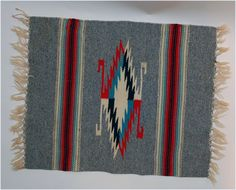 vintage Spanish American weaving small rug carpet by secondseed, $125.00
