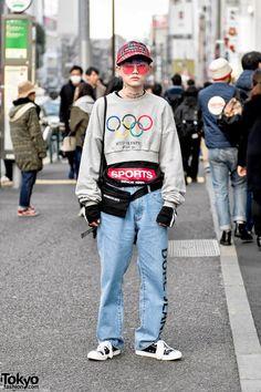Hanseul Ha of More Than Dope in Harajuku