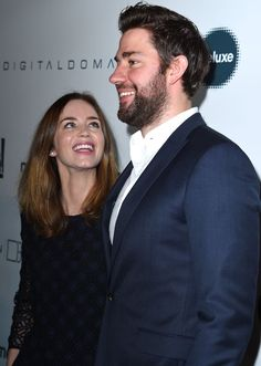 Not only are John Krasinski and Emily Blunt quite the onscreen power couple, but they're also one of the sweetest pairs in Hollywood. Celebrity Couples, Celebrity Photos, John Krasinki, John Krasinski Emily Blunt, Priyanka Chopra Wedding, British Academy Film Awards, Looking For Love, Celebs, Celebrities