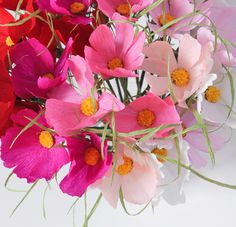Paper Cosmos flowers by A Petal Unfolds