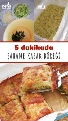 5 dakikada hazırlayabileceğiniz şahane bir lezzet: Kabak Böreği. Kabak sevmeyenlerin bile bayıldığını bu tarifi mutlaka denemelisiniz 👌 Veg Recipes, Snack Recipes, Cooking Recipes, Healthy Recipes, Veg Meal Prep, Pasta Cake, Iftar, Turkish Recipes, Creative Food
