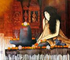 Buy Mrityunjay artwork number a famous painting by an Indian Artist Mrinal Dutt. Indian Art Ideas offer contemporary and modern art at reasonable price. Lord Shiva Painting, Ganesha Painting, Shiva Art, Hindu Art, Shiva Shakti, Indian Folk Art, Indian Artist, Indian Art Paintings, Buy Paintings