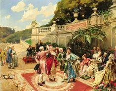 Danse du menuet dans les jardins du château de Versailles by Henry Victor LESUR