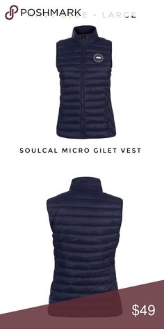 85ce38d9118 Soul Cal Women s Large Puffer Vest Navy Blue new New with tags Large Navy  blue SoulCal