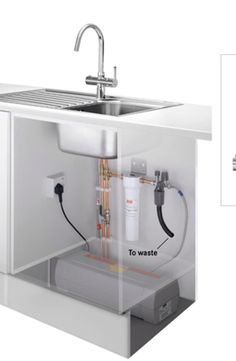 Typical installation of Kettle Tap system Boiling Water Tap, Tap System, Luxury Kitchens, Kettle, Washing Machine, Sink, Chrome, Kitchen Appliances
