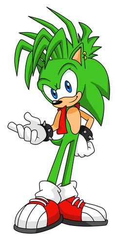 Manic the Hedgehog (As if he were redesigned for Sonic Adventure)
