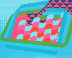 Art Obsession: Colors and Patterns by Grant Wiggins via Brit + Co.