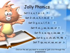 jolly-phonics-sounds-and-actions by Sockying Seng via Slideshare … Jolly Phonics Songs, Jolly Phonics Activities, Alphabet Activities, Kindergarten Activities, Teaching Phonics, English Activities, Preschool Games, Alphabet Sounds, Phonics Sounds