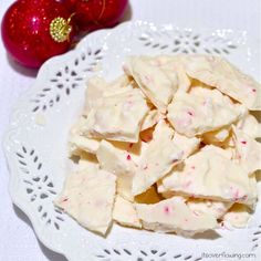 2 Ingredient Holiday Peppermint Bark - Looks Easy!