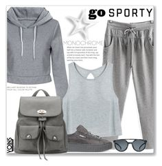 """""""Sporty Style by Yoins"""" by jecakns ❤ liked on Polyvore featuring Puma and adidas"""