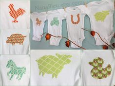 NEW: Set of 15 iron on farm theme iron on fabric shapes for gender neutral baby shower activity. $41.25, via Etsy.