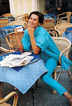 Vogue Paris February 1990 Caprices a Capri Model: Vanessa Duve Ph: Sante D'Orazio