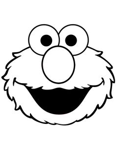 Cute Elmo Face Coloring Page | Free Printable Coloring Pages