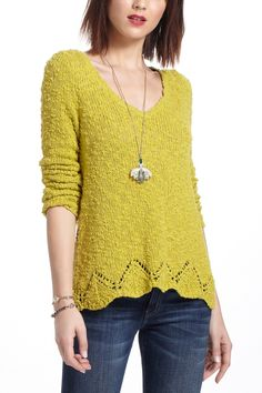 Anthropologie Clothing Peaked Pointelle Sweater. So me