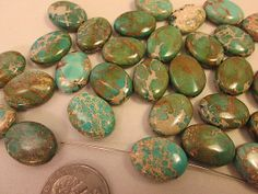Close Out Beads Imperial Jasper Green Oval 20x15mm by FLcowgirls, $2.59