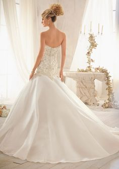 c4cbde03b941c Bridal Gown From Mori Lee By Madeline Gardner Dress Style 2606 Crystal  Beaded Embroidery on Tulle