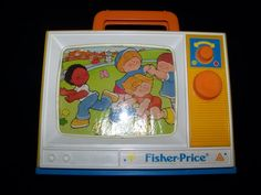 80's  fisher-price toys | Details about Fisher Price 1987 Musical TV vintage wind-up toy London ...