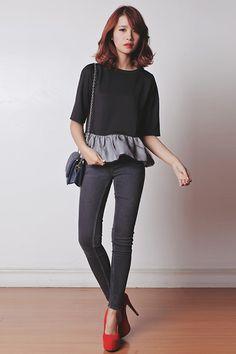 Stylistaph Top, Asian Vogue Heels, Emoda Bag