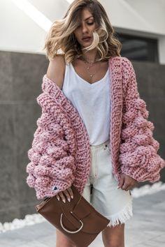 Mum's Handmade Warm Up Dusty Pink cardigan
