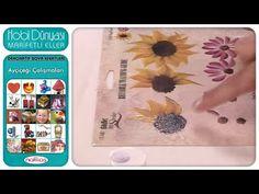 Dekoratif Boya Efektleri - Ayçiçeği Çalışmaları - YouTube