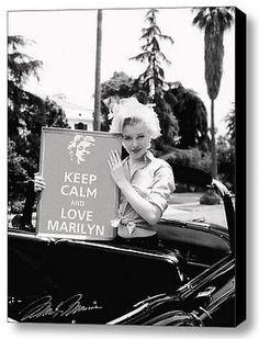 Framed Love Marilyn Monroe KEEP CALM signed 9X11 inch Art Print w/COA
