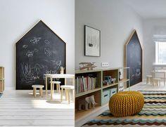 ינוקא עיצוב לקטנטנים - DIY // איך להכין לוח גיר בצורת בית
