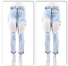 Love these ripped up jeans