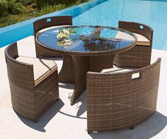 The Most Beautiful Garden Furniture Design Ideas 2014 Garden Furniture Design, Furniture Layout, Furniture Ideas, Wicker Furniture, Small Outdoor Patios, Outdoor Dining, Outdoor Ideas, Backyard Ideas, Garden Ideas