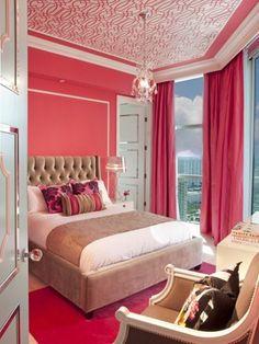Inspírate: Habitaciones juveniles femeninas: Habitación rosada