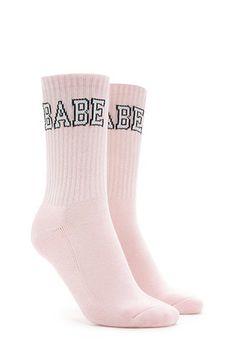 c5646cb4e2 Babe Graphic Crew Socks Forever 21 Accessories, Cute Socks, Cute Tights,  Boutique,