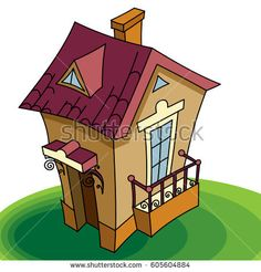 Cottage house.Little home. Vector illustration. Architecture, cottage, building, house, sweet house,  fairy house.