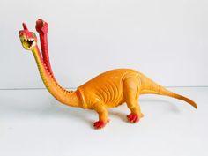 Boneco Dinossauro Dragão De 2 Cabeças Antigo Anos 70 - R$ 69,90 em Mercado Livre