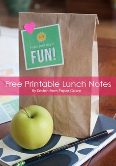 7 Cute Free Printable Lunch Box Notes by PaperCrave LivingLocurto.com