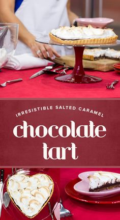 Next time you have a sweet tooth, try this recipe for a salted caramel chocolate tart. It's decadent.