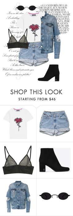 """""""Denim 2.1"""" by erikajosefina ❤ liked on Polyvore featuring Whiteley, House of Holland, Yves Saint Laurent and Balmain"""
