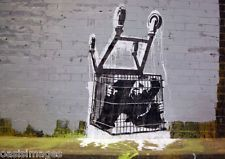 banksy TROLLEY CAGE choose either a print, t shirt transfer or sticker