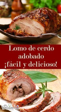 Learn how to prepare the most delicious marinated pork loin (easy recipe) - Navidad - Pork Recipes, Mexican Food Recipes, Healthy Recipes, Kitchen Recipes, Cooking Recipes, My Favorite Food, Favorite Recipes, Marinated Pork, Colombian Food