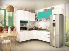 Cozinha Completa Líder Casa Aroma - 13 Portas 3 Gavetas