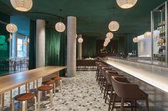 Lobby of Hotel Zander K, Bergen, Norway. Architecture and design by Claesson Koivisto Rune Architects. Photo by Åke E:son Lindman. Hotel Bergen, Lighting Concepts, Summer Rain, News Design, Norway, Flooring, Architecture, Wood, Interior