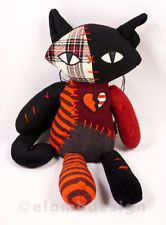 Emily strange- Sabbath Softies, Plushies, Ruby Gloom, Emily The Strange, Shikamaru, Cat Crafts, Doll Toys, Dolls, Tigger