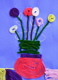 Huichol Yarn Paintings | Lessons from the K-12 Art Room                                                                                                                                                                                 More