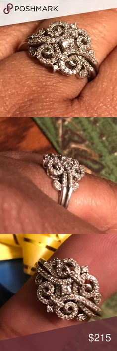 Unique Vintage 925 and true diamonds! Beautiful real diamonds ready to meet at the altar! Have a great day and feed someone along the way! #agodthang Jewelry Rings