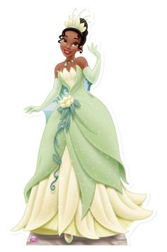 Tiana Princess Cute Outs | lifesize_cardboard_cutout_of_Princess_Tiana_disney_buy_cutouts_at ...