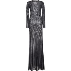 Zuhair Murad     Long Flared Tattoo Effect Knit Dress (162.820 RUB) ❤ liked on Polyvore featuring dresses, zuhair murad, gown, black, flare dress, long knit dress, tattoo dresses, tattoo print dress and long sheath dress